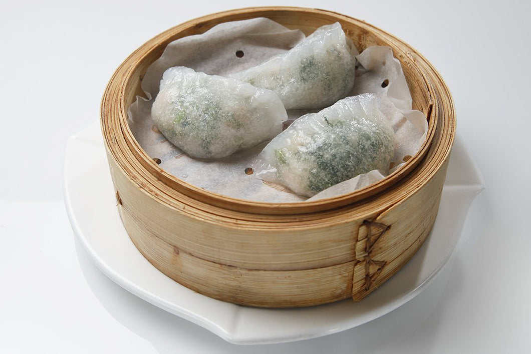 Watercress Dumpling w. Shrimp 西洋菜饺