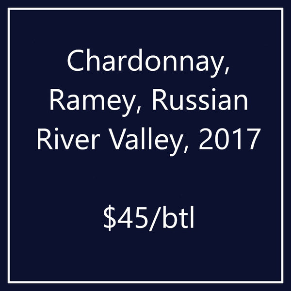 Chardonnay, Ramey, Russian River Valley, 2017