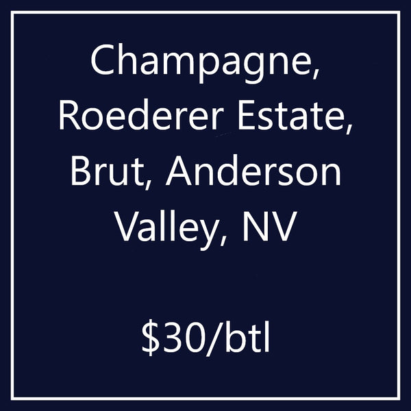 Champagne, Roederer Estate, Brut, Anderson Valley, NV