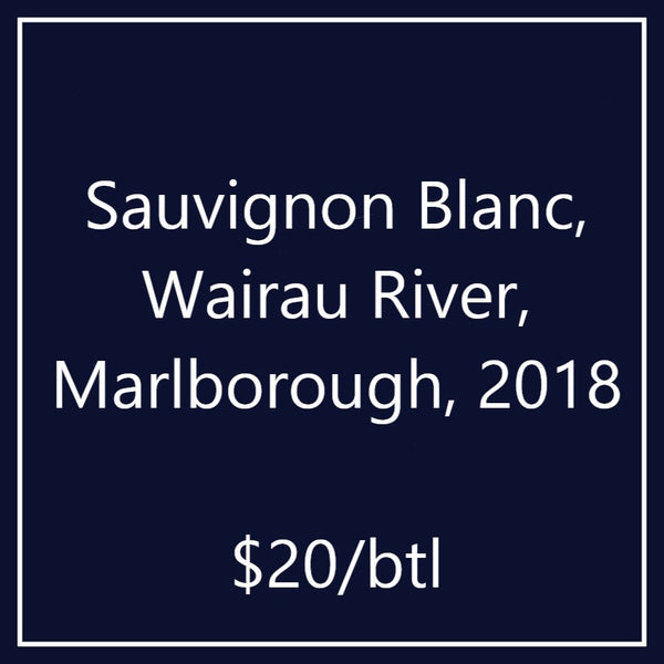 Sauvignon Blanc, Wairau River, Marlborough, 2018