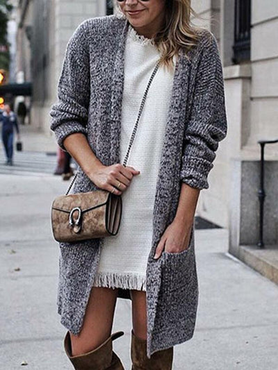 Simple Long Sleeves Cardigan Top