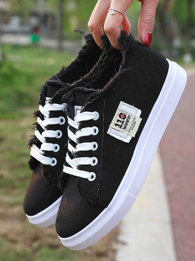 Solid Canvas Sneaker Casual Shoes