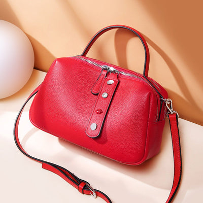Leather handbag leather soft leather shoulder Messenger bag