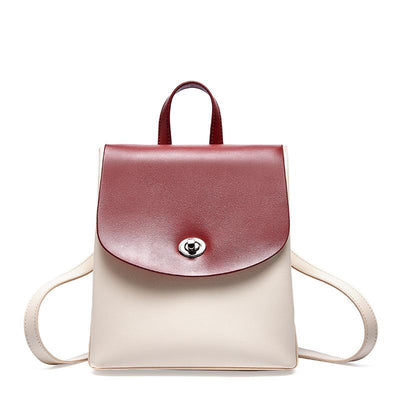 Leather shoulder leather bag