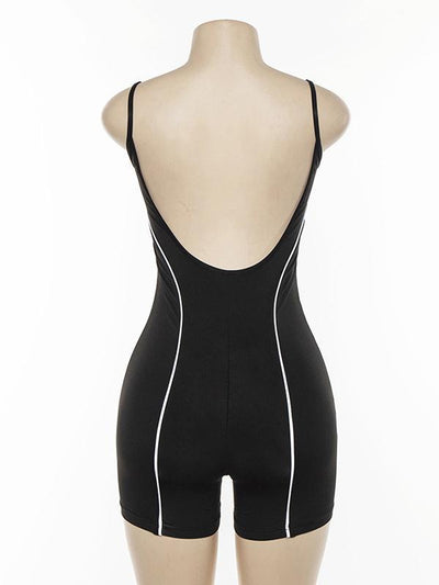 Spaghetti-neck Backless Jumpsuit