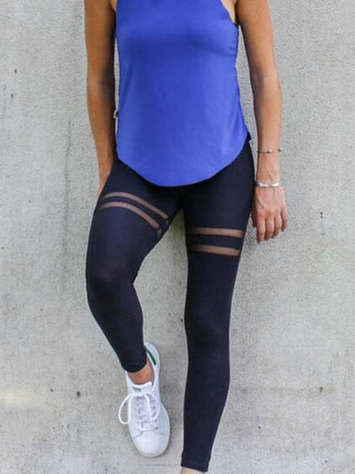 New Chic Mesh Stitching Leggings