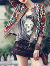 Fashion Inwrought 3/4 Sleeve Round Neck Outwears Tops