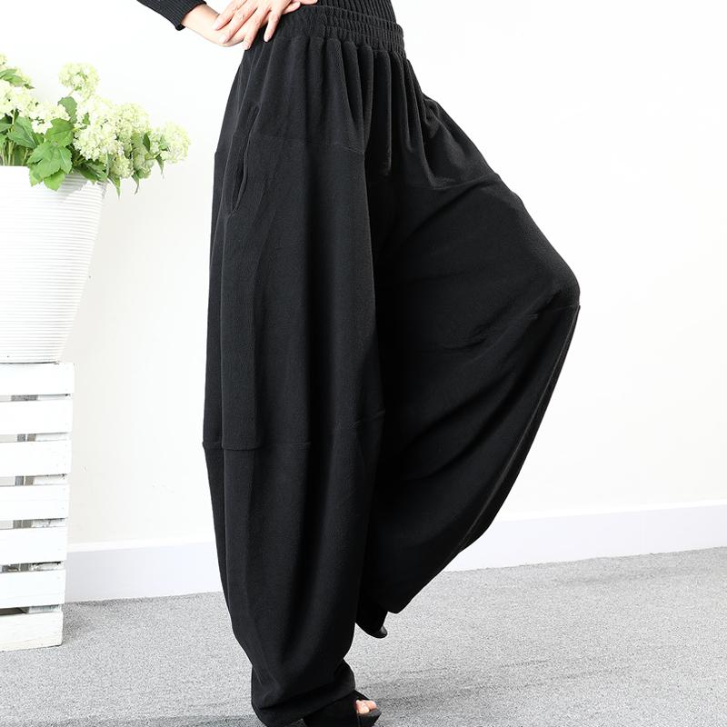 Plus Size - Casual Solid Color Comfortable Ultra-loose Pants