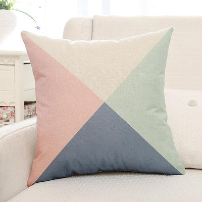 Colorful Geometric Printed Pillow Case