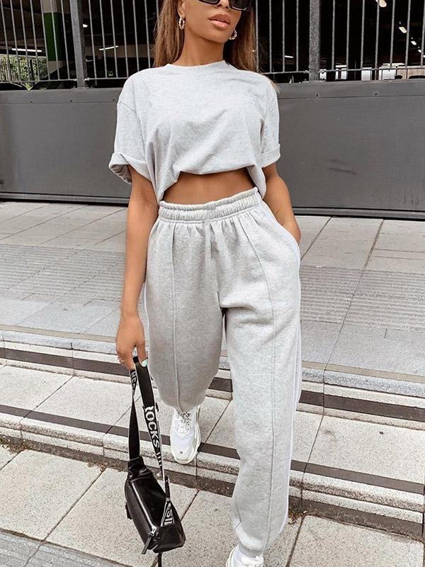 Leisure Female Elastic Track Pants