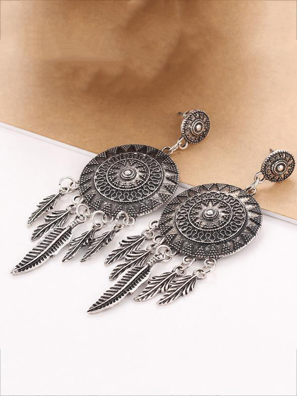 Original Feather Sun Alloy Earring