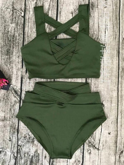 Cross Strappy Two-pieces Swimwear