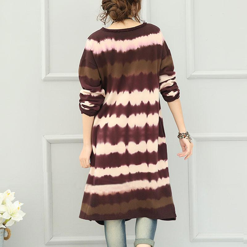 Women Casual Loose Cotton Knitting Sweater Dress
