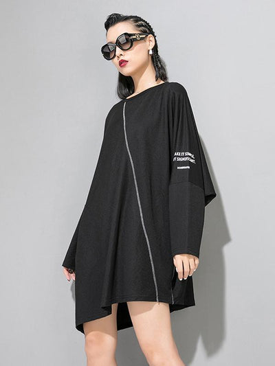 Loose Batwing Copped T-shirt