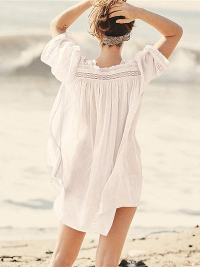 Vacation Hollow Loose Cover-ups Swimwear
