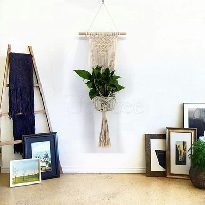Tasseled Crochet Hanging Basket Decoration