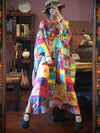 Super Loose Colorful Ramie Cotton Long Dress