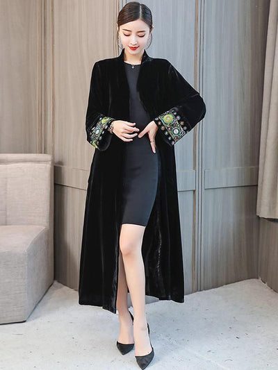 Casual Embroidered Long Robe