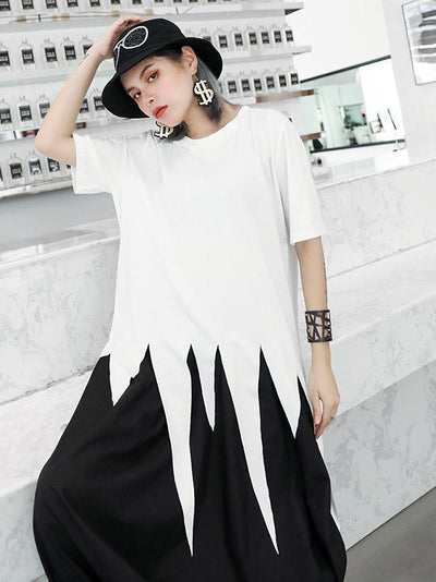 Original Solid Asymmetric T-Shirt