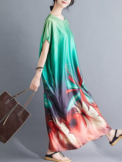 Oose Comfortable Printed  Long Dress