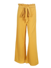 Solid Color Wide Leg Casual Pants Bottom