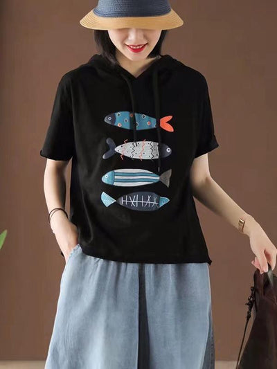 Loose Fresh Printed Animals T-Shirt