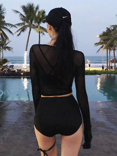 Black High Waisted Bikini Swimsuit