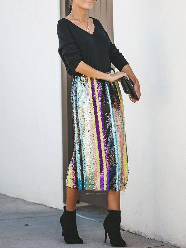 Sexy Beauty And Sequinned Skirts Bottoms