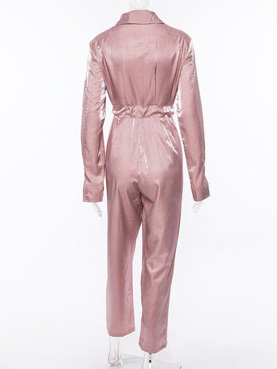 Casual Fashion Pink Jumpsuits