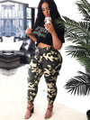 Plus Size Camouflage Printed Track Pants