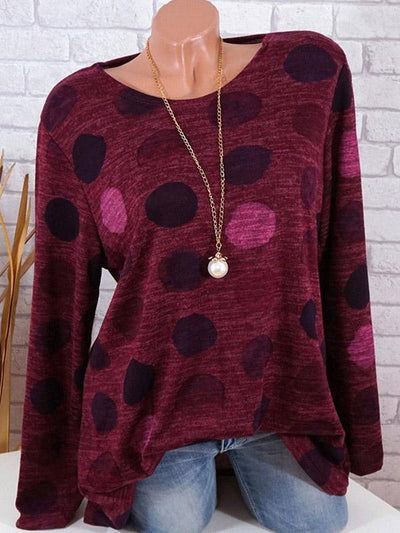Polka-dot Printed Bohemia Shirt Top