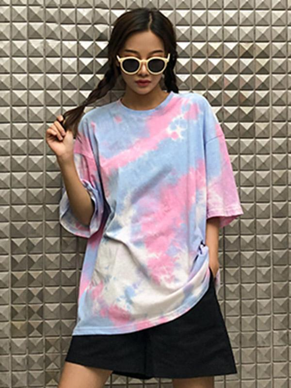Casual Fashion Tie-Dye T-shirt