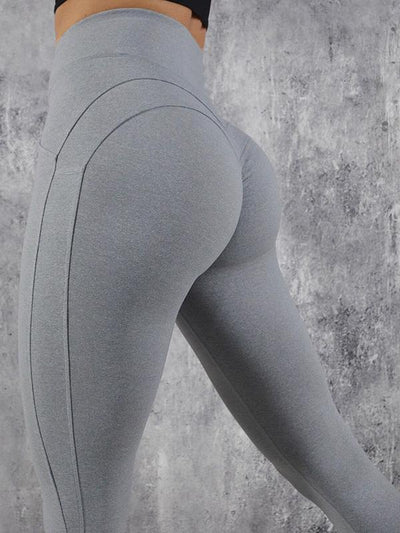 Sports Solid High Waisted Leggings