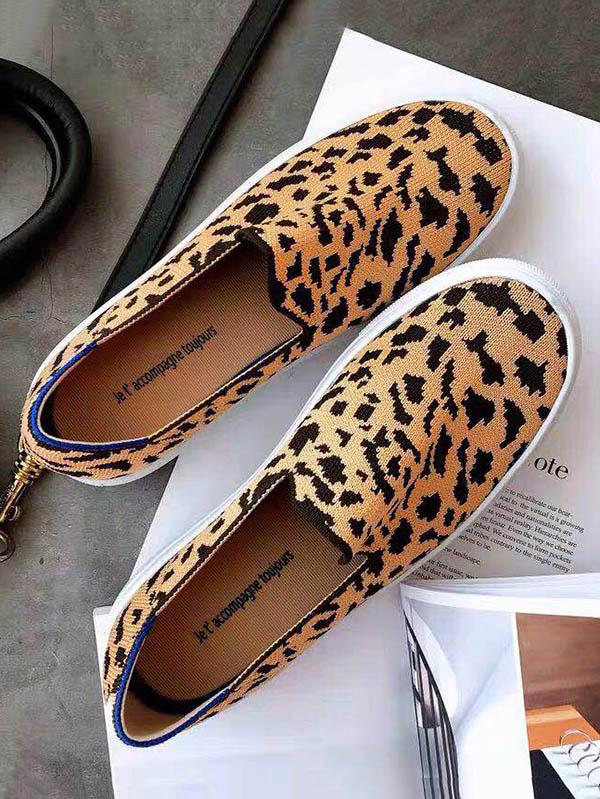 Leopard Print Casual Flat Shoes