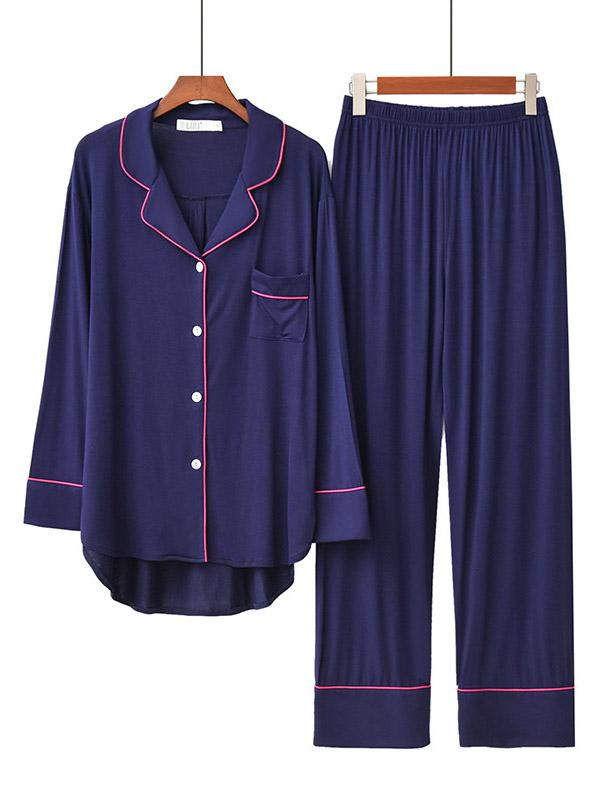 Comfortable Long Sleeve T-Shirt&Pants Pajama Suit