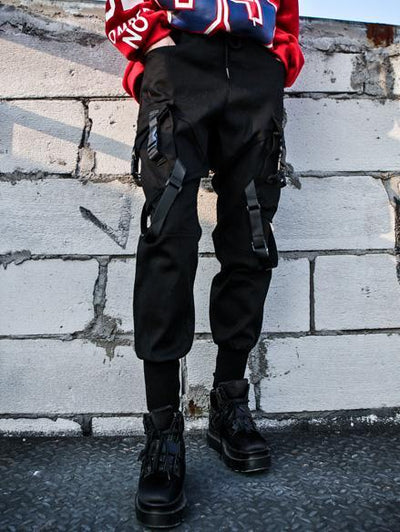 Hiphop Loose Tooling Solid Overalls