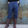 Autumn Winter Pure Color Thermal Harem Pants