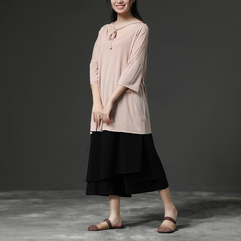 Light Pink Casual Summer Women Pullover Shirt