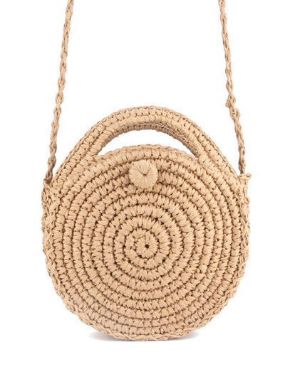 Handmade Straw Plaited Article Bohemia Bag