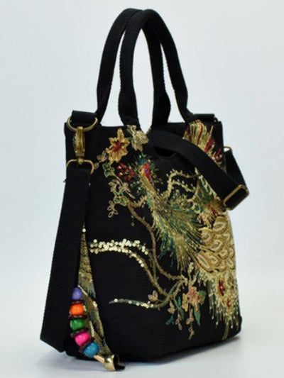 Peacock Embroidery Ethnic Bag