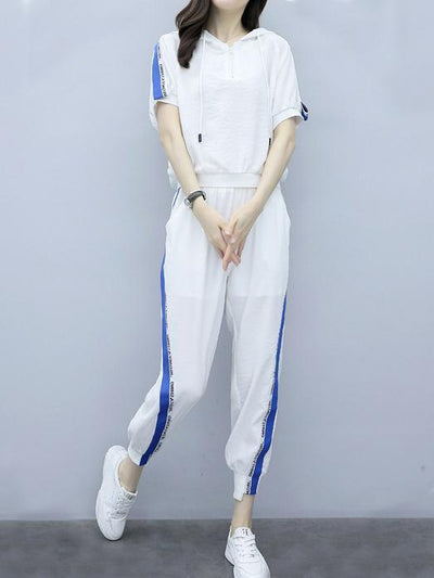 Short Sleeves T-Shirt + Loose Pants Sport Suit
