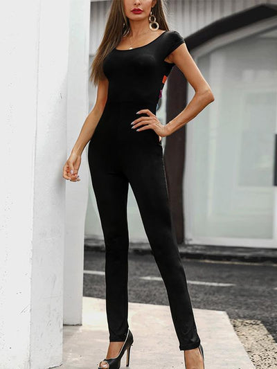 Sexy Hollow Black Jumpsuit