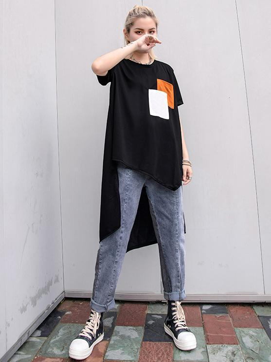 Irregular Swallow Tail T-shirt