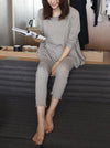 Comfortable Long Sleeve T-Shirt&Drawstring Pants Pajama Suit