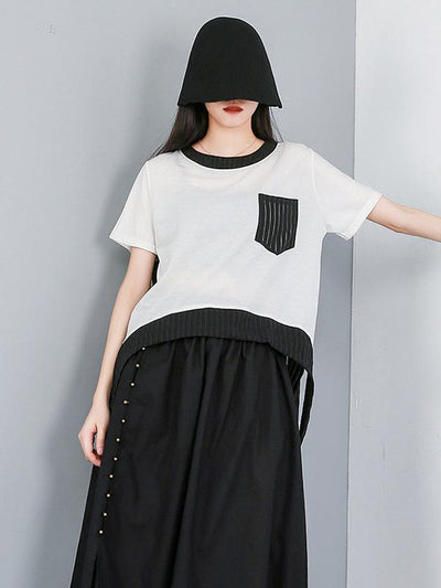 Asymmetric Split-joint T-Shirt
