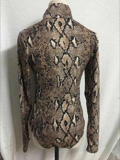 Snake Pattern Wrap Jumpsuits