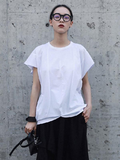Summer Solid Split-joint T-Shirt