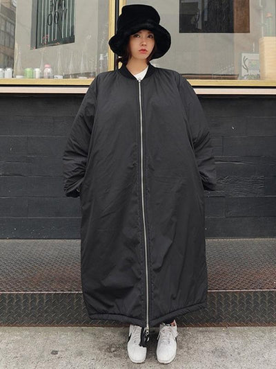 LOOSE BLACK BF LONG COAT