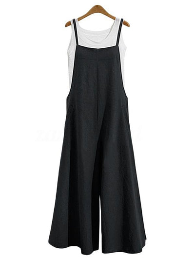 Spagetti-neck Loose Long Jumpsuits