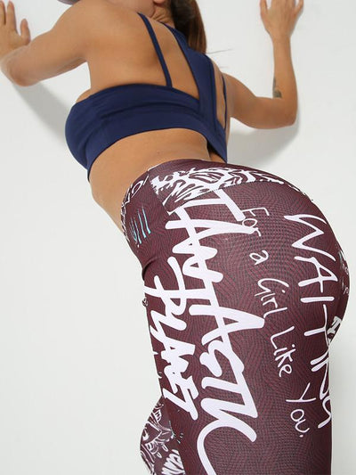 Digital Printed High Waist Yoga Leggings